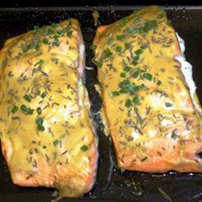 Baked Salmon with Goat Cheese