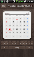 Screenshot of Calendar Widget 2014 Ultimate