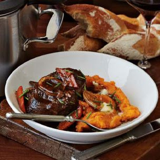 Spiced Wine-Braised Veal Shanks and Sweet Potato Puree