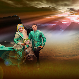 by Ahmad Syamsuddin - Wedding Bride & Groom
