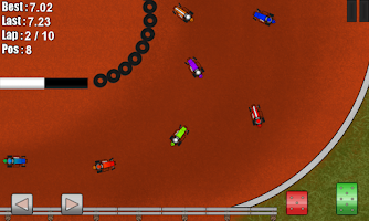 Screenshot of Dirt Racing Mobile Midgets