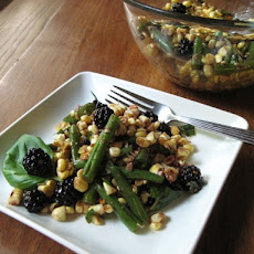 Blackberry Basil Corn Salad (Original Recipe by Korena)