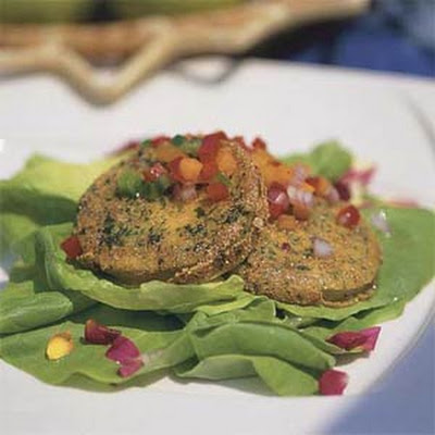 Kentucky Bibb Salad with Fried Green Tomatoes