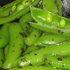 Healthy Fast and Easy Minted Sugar Snap Peas