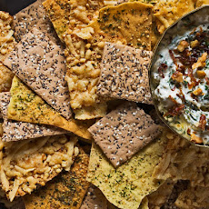 Caramelized Onion Dip with Feta, Spinach and Walnuts