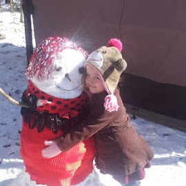 Journey and her fashion snow woman by Sebree Baltimore - People Family