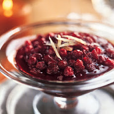 Cranberry Compote with Ginger and Molasses