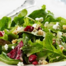 Mixed Greens with Cranberries, Goat Cheese & Walnuts