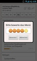 Screenshot of Mensa Magdeburg