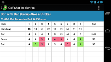 Screenshot of Golf Shot Tracker Pro Free
