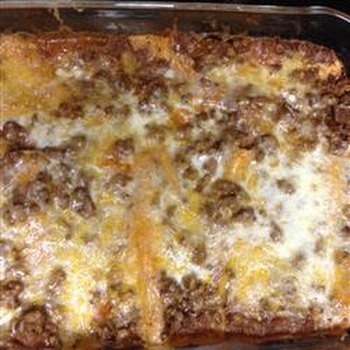 Tex-Mex Beef and Cheese Enchiladas