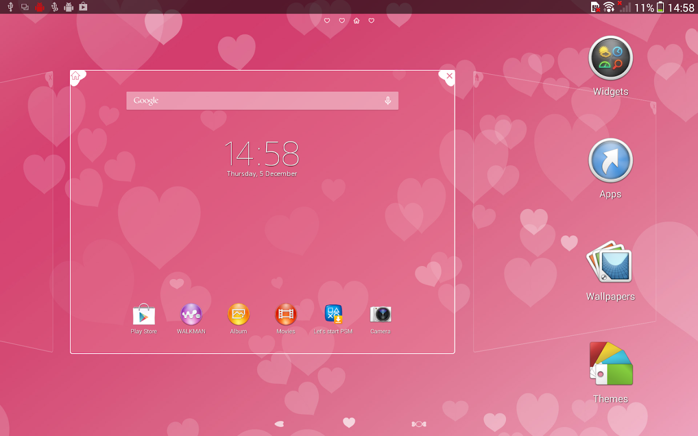 XPERIA™ Pink Hearts Theme Screenshot 6