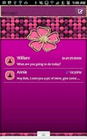Screenshot of GO SMS - Flower Dots Gold