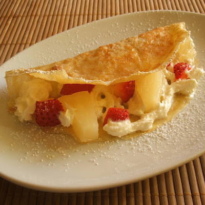 Fruit Crepes With Chantilly