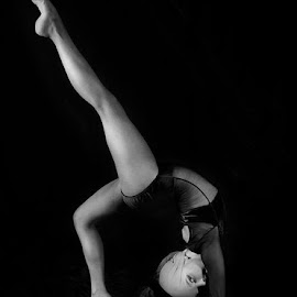 by Gaz Haywood - Sports & Fitness Fitness ( monochrome, girl, dancer )