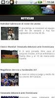 Screenshot of Baseball Movilnet
