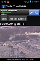 Screenshot of Wisconsin Traffic Cameras