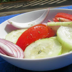 Cucumber, Tomato and Red Onion Salad