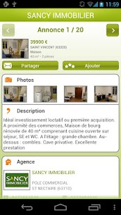 Sancy Immobilier - screenshot