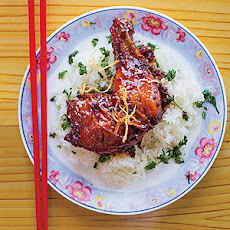 Caramelized Ginger Chicken with Sticky Rice