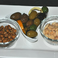 Trio of Spanish Nibbles:  Olives, Almonds & Chickpeas