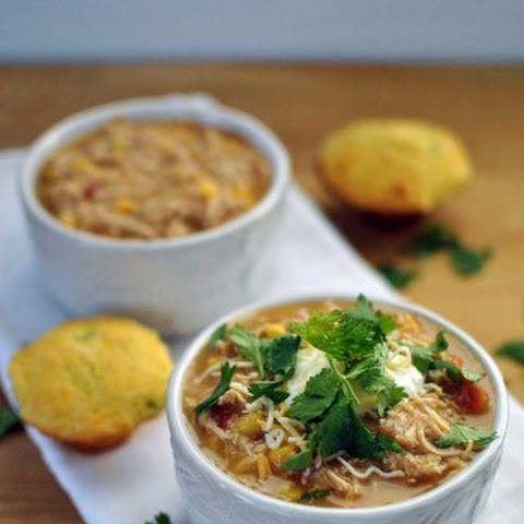 Healthy Slow Cooker White Chicken Chili