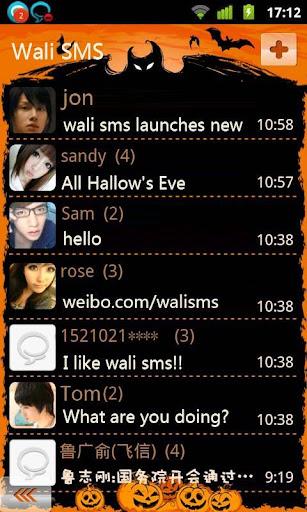Wali SMS Theme:Evil Pumpkin