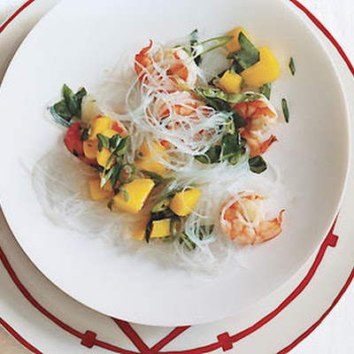 Shrimp and Mango Salad with Glass Noodles