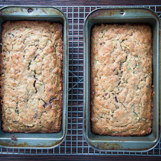 Zucchini Bread with Pistachios and Chocolate Chunks