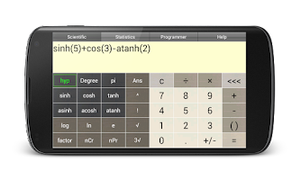 Screenshot of Pi Scientific Calculator