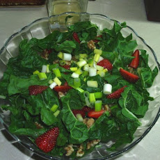 Spinach, Strawberry and Walnut Salad
