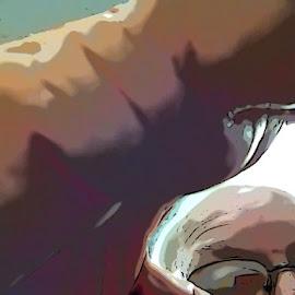 Selfie2 by Allen Crenshaw - Digital Art People ( abstract, tooncamera, self portrait, photography )