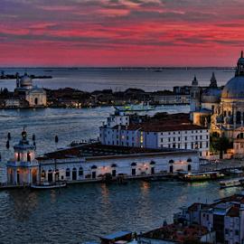 Venezia - Punta dogana & Salute by Dominic Jacob - City,  Street & Park  Historic Districts ( salute, venezia, church, santa, dogana, venice, venise, customs, douane, maria )