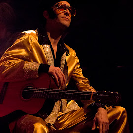 Elvis at the apin Agile by Neil London - People Musicians & Entertainers ( performance, theatre, theater, actors, acting )