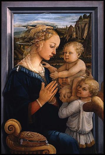 Lippi Filippo, Madonna, bimbo e angeli