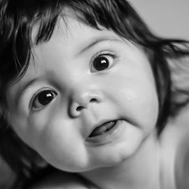 OH hey there  by Katherine Terrel - Babies & Children Babies ( baby portrait, baby face, baby, baby photography, hair, baby boy )