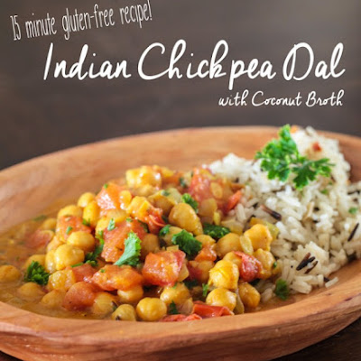 Indian Chickpea Dal with Coconut Broth and Basmati Rice