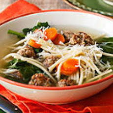 Mini-Meatball Soup with Noodles