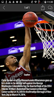 Screenshot of MassLive.com: UMass Hoops