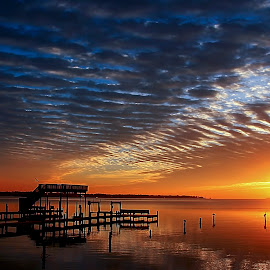 Dawn by Roger  Cook - Landscapes Sunsets & Sunrises