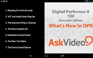 Screenshot of Digital Performer 8 QuickLook