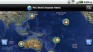Screenshot of Disaster Alert