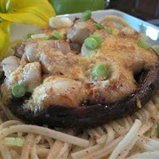 Scallop-Topped Portabello Mushrooms