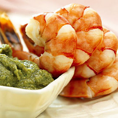 Shrimp with Artichoke Pesto