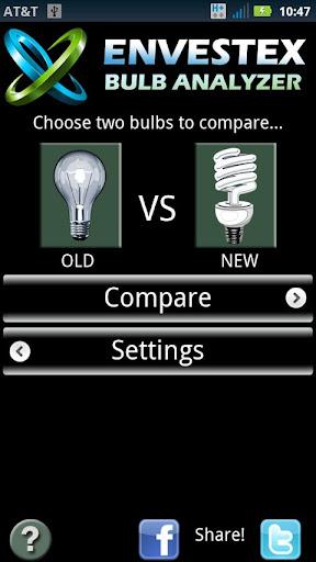Envestex Bulb Savings Analyzer