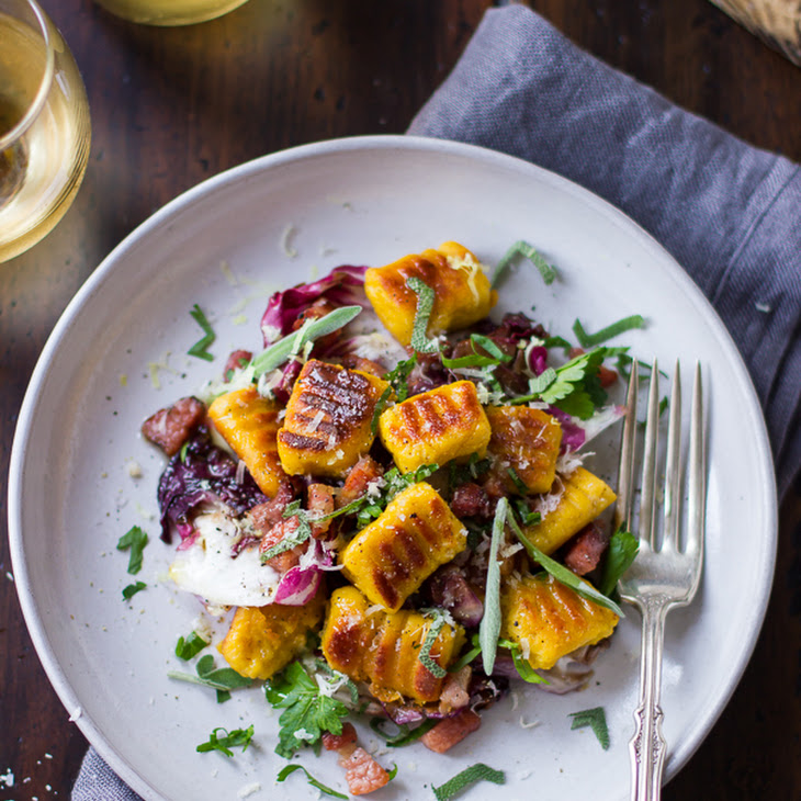 Gluten-Free Pumpkin Ricotta Gnocchi with Pancetta and Seared Radicchio ...