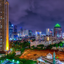 City of Lights by Peter Iman Paskal Mendrofa - City,  Street & Park  City Parks ( hdr, jakarta, nikon, nightscape,  )
