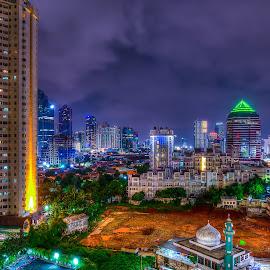 City of Lights by Peter Iman Paskal Mendrofa - City,  Street & Park  City Parks ( hdr, jakarta, nikon, nightscape,  )