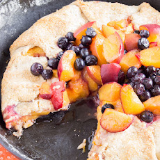 Peach-Blueberry Almond Crostata