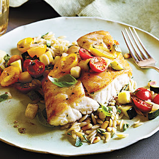 Snapper with Zucchini and Tomato